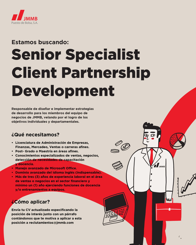 Senior specialist client partnership development